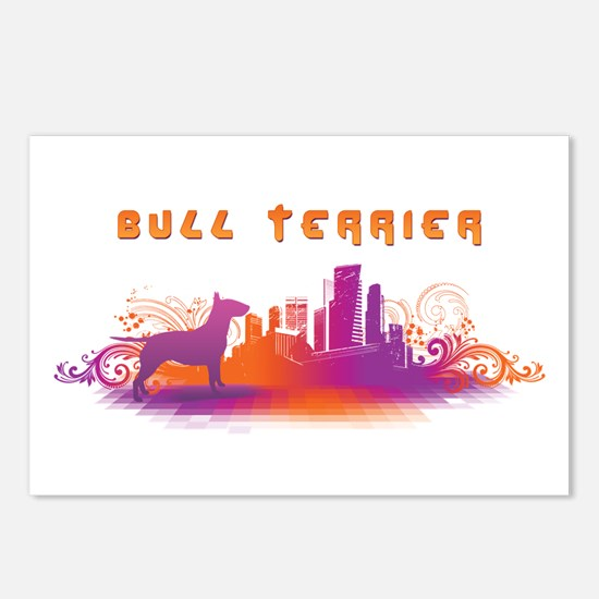 """City"" Bull Terrier Postcards (Package of 8)"