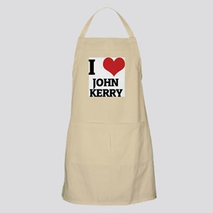 I Love John Kerry BBQ Apron