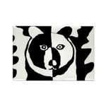 Bear Rectangle Magnet (100 pack)