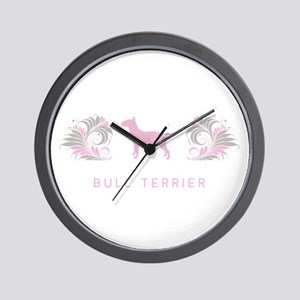 """Elegant"" Bull Terrier Wall Clock"