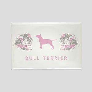 """""""Elegant"""" Bull Terrier Rectangle Magnet"""
