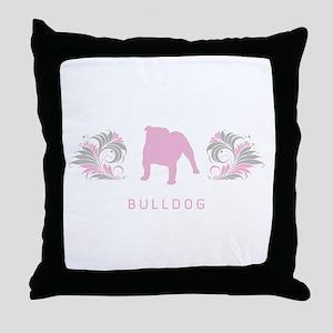 """Elegant"" Bulldog Throw Pillow"