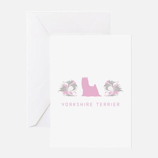 """Elegant"" Yorkshire Terrier Greeting Card"