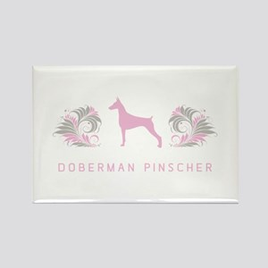 """Elegant"" Doberman Pinscher Rectangle Magnet"