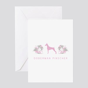 """Elegant"" Doberman Pinscher Greeting Card"