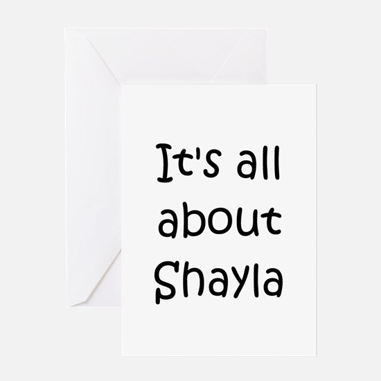 Cute Shayla Greeting Card