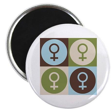 """Feminism Pop Art 2.25"""" Magnet (100 pack)"""