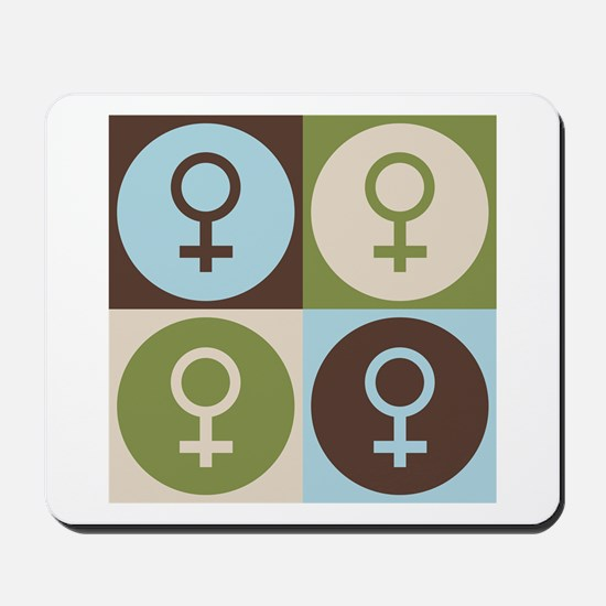 Feminism Pop Art Mousepad