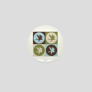Falconry Pop Art Mini Button