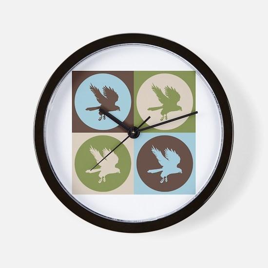 Falconry Pop Art Wall Clock
