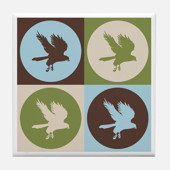 Falconry Pop Art Tile Coaster