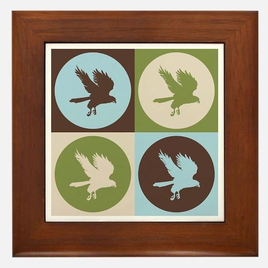 Falconry Pop Art Framed Tile