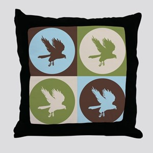 Falconry Pop Art Throw Pillow