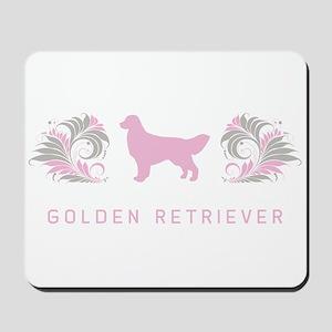 """Elegant"" Golden Retriever Mousepad"