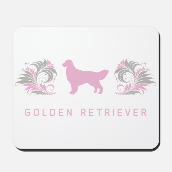 """Elegant"" Golden Retriever Mousepad"