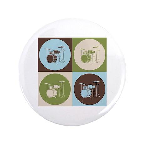 "Drums Pop Art 3.5"" Button"
