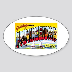Provincetown Massachusetts Greetings Sticker (Oval