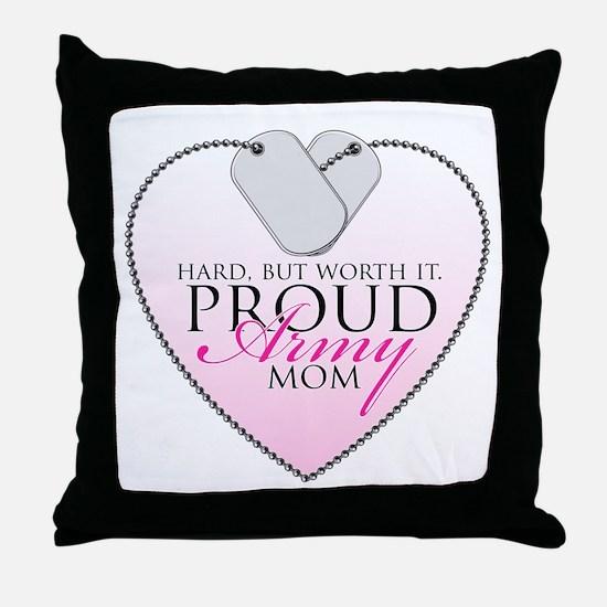 Lucky & Proud Mom Throw Pillow