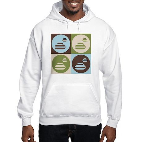 Curling Pop Art Hooded Sweatshirt