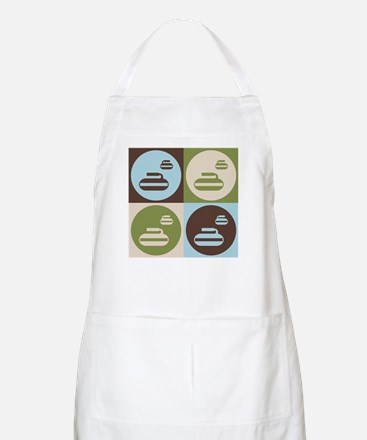 Curling Pop Art BBQ Apron