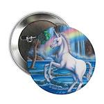 """Rainbow Unicorn 2.25"""" Button"""