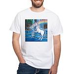 Rainbow Unicorn White T-Shirt