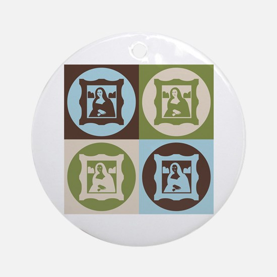 Curating Pop Art Ornament (Round)