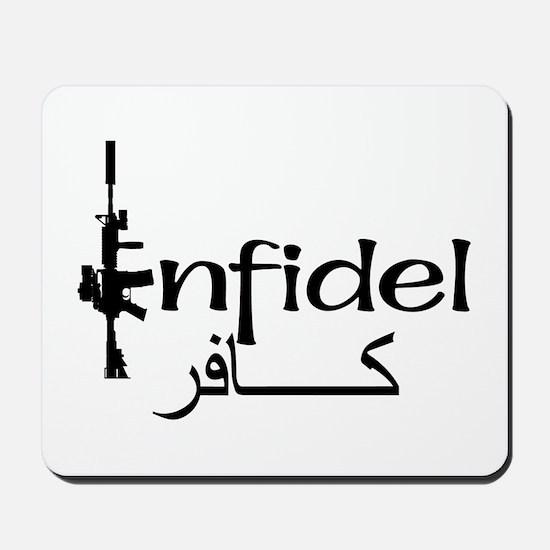 English Arabic Infidel Mousepad