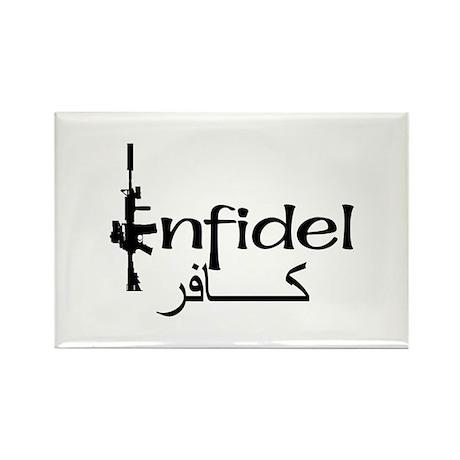 English Arabic Infidel Rectangle Magnet (10 pack)