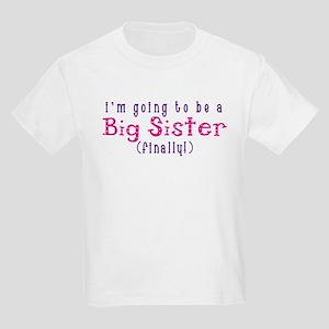 I'm Going To Be A Big Sister Kids Light T-Shirt