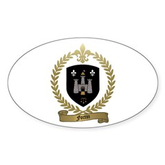 FORTIN Family Crest Oval Decal