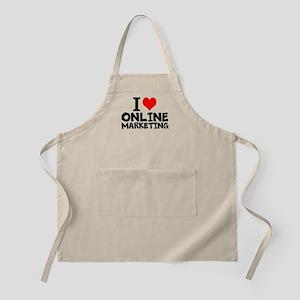 I Love Online Marketing Light Apron