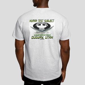 Human Test Subject Dugway Ash Grey T-Shirt