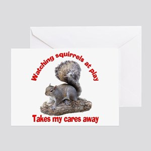 Squirrels at Play Greeting Card