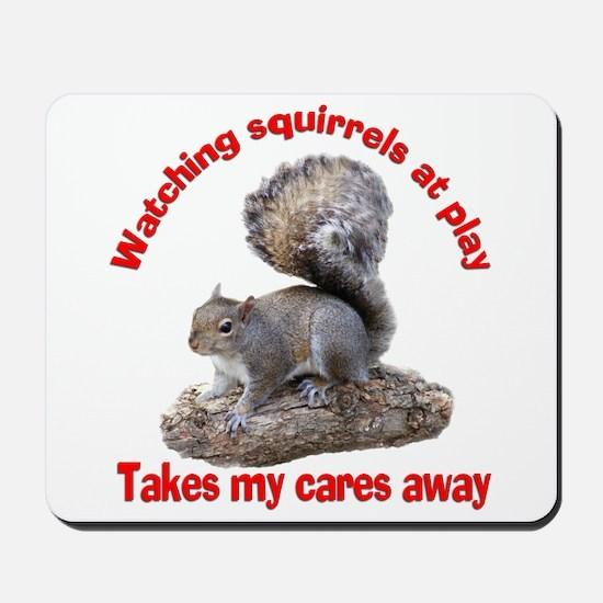 Squirrels at Play Mousepad