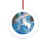 Rainbow Unicorn Ornament (Round)