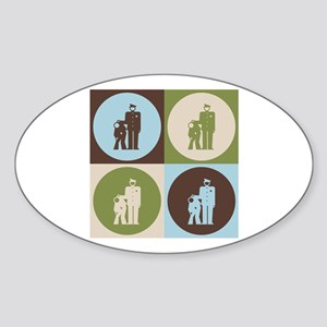 Corrections Pop Art Oval Sticker