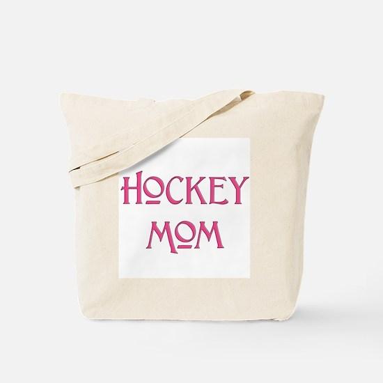 Hockey Mom pink text Tote Bag