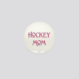 Hockey Mom pink text Mini Button