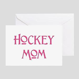 Hockey Mom pink text Greeting Card