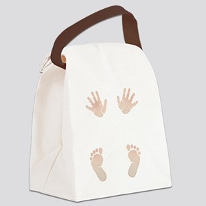 Baby_Hands_and_Feet_Maternity_Exc Canvas Lunch Bag