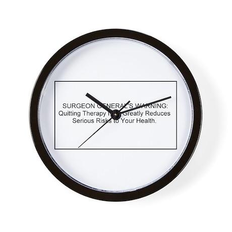 health warning #1 Wall Clock