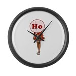 Christmas Ho Large Wall Clock