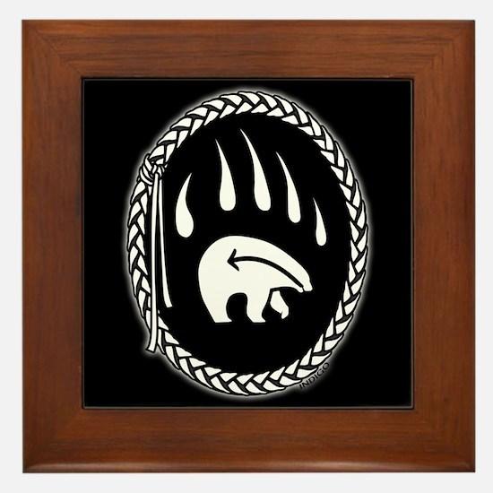 Tribal Bear Art Framed Tile Bear Claw Art Gifts