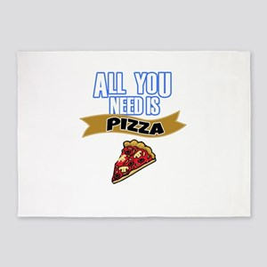 All You Need is Pizza 5'x7'Area Rug