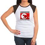 Lacrosse-DrawMan Women's Cap Sleeve T-Shirt