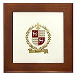 DOUCETTE Family Crest Framed Tile