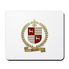 DOUCETTE Family Crest Mousepad