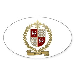 DOUCETTE Family Crest Oval Decal