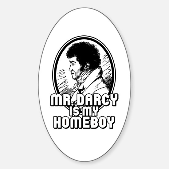 Mr. Darcy Oval Decal